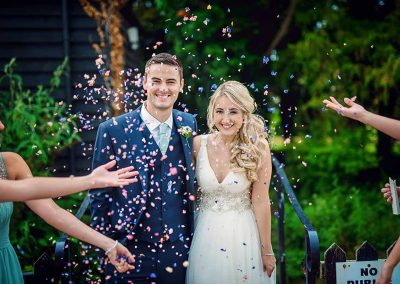 Confetti shower - Outside ceremony at Sheene Mill