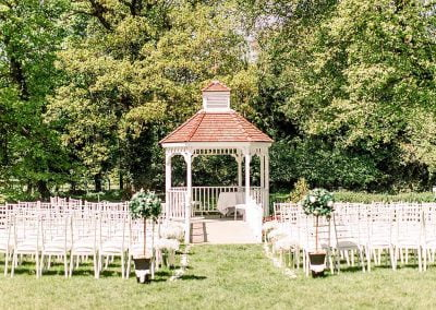 Outdoor Ceremony Setup - Sheene Mill