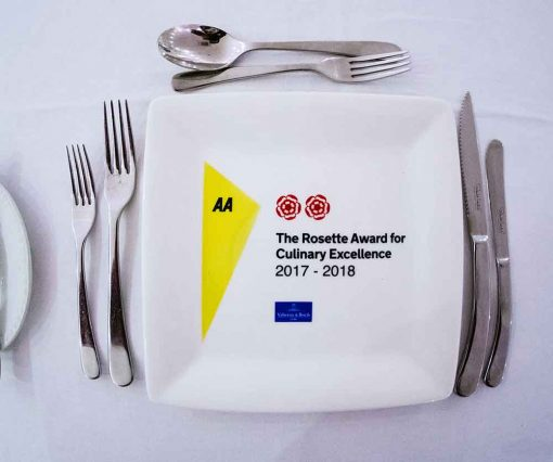 2 AA Rosettes for Culinary Excellence - Awarded to Sheene Mill