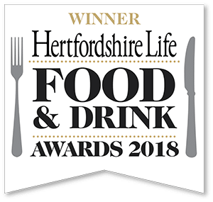 Hertfordshire Life WINNER Restaurant of the Year 2018 - Sheene Mill